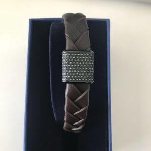 Swarovski capture men's  bracelet brown